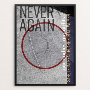 "Never Again by Carolyn Pavelkis 12"" by 16"" Print / Framed Print Creative Action Network"