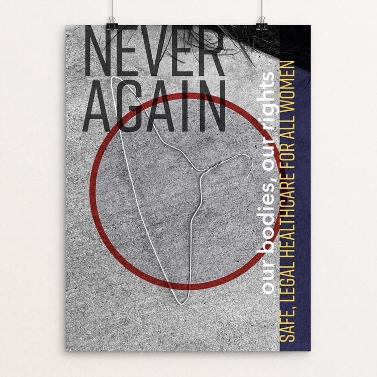"Never Again by Carolyn Pavelkis 12"" by 16"" Print / Unframed Print Creative Action Network"