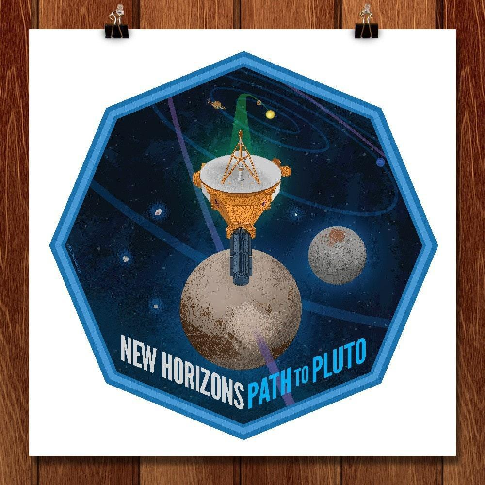 "New Horizons by Brixton Doyle 12"" by 12"" Print / Unframed Print Space Horizons"