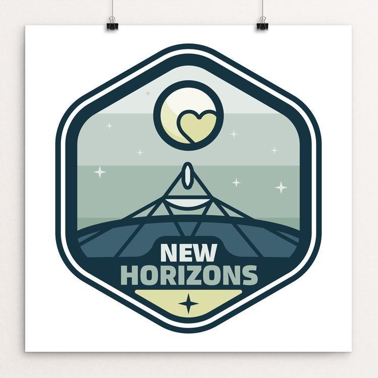 "New Horizons by Zuyva Sevilla 12"" by 12"" Print / Unframed Print Space Horizons"