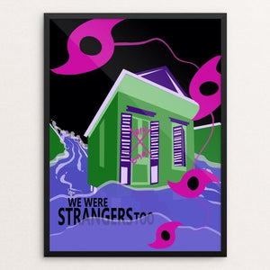 "New Orleanians Were Strangers Too by Laura Montgomery 12"" by 16"" Print / Framed Print We Were Strangers Too"
