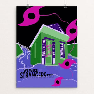 "New Orleanians Were Strangers Too by Laura Montgomery 12"" by 16"" Print / Unframed Print We Were Strangers Too"