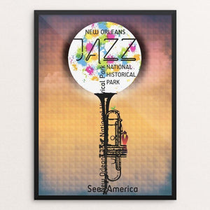 "New Orleans Jazz National Historical Park by Mario Fuentes 12"" by 16"" Print / Framed Print See America"