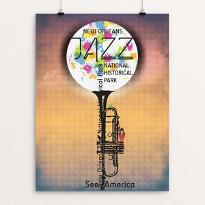 "New Orleans Jazz National Historical Park by Mario Fuentes 12"" by 16"" Print / Unframed Print See America"