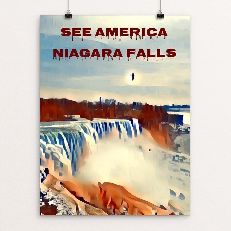 "Niagara Falls National Heritage Area 2 by Bryan Bromstrup 12"" by 16"" Print / Unframed Print See America"