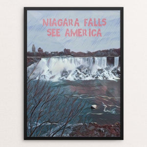 "Niagara Falls National Heritage Area 3 by Bryan Bromstrup 12"" by 16"" Print / Framed Print See America"