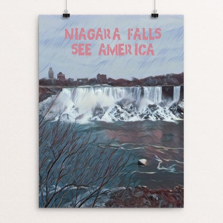 "Niagara Falls National Heritage Area 3 by Bryan Bromstrup 12"" by 16"" Print / Unframed Print See America"