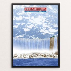 "Niagara Falls National Heritage Area by Brixton Doyle 12"" by 16"" Print / Framed Print See America"