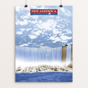 "Niagara Falls National Heritage Area by Brixton Doyle 12"" by 16"" Print / Unframed Print See America"