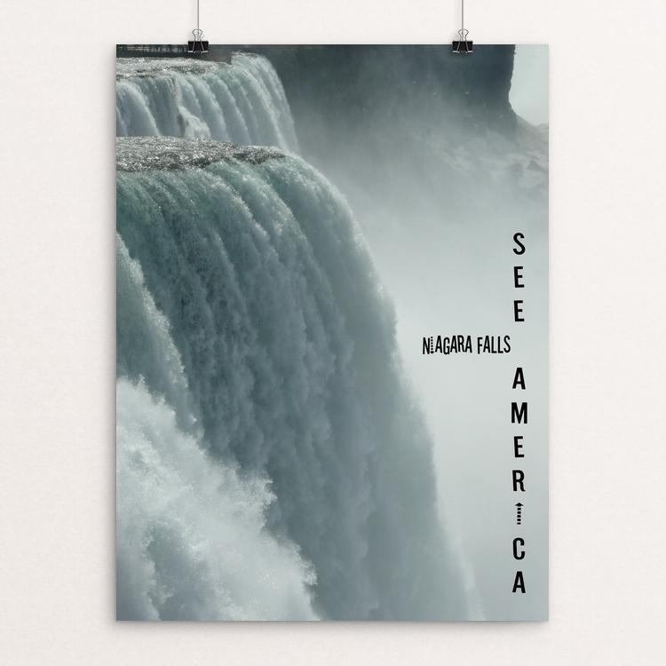 "Niagara Falls National Heritage Area by Bryan Bromstrup 12"" by 16"" Print / Unframed Print See America"
