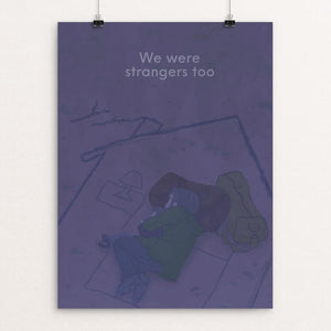 "Night at home by Shycheeks Illustration 12"" by 16"" Print / Unframed Print We Were Strangers Too"
