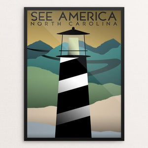 "North Carolina by Christopher Williams 12"" by 16"" Print / Framed Print See America"