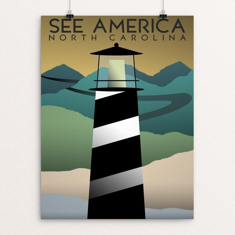 "North Carolina by Christopher Williams 12"" by 16"" Print / Unframed Print See America"