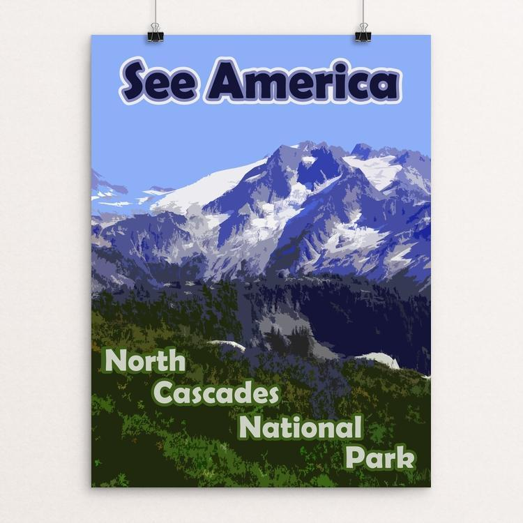 "North Cascades National Park 2 by Eitan S. Kaplan 12"" by 16"" Print / Unframed Print See America"