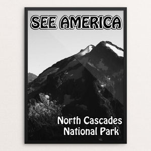 "North Cascades National Park by Eitan S. Kaplan 12"" by 16"" Print / Framed Print See America"