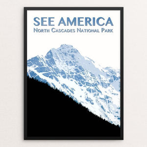 "North Cascades National Park by Zack Frank 12"" by 16"" Print / Framed Print See America"