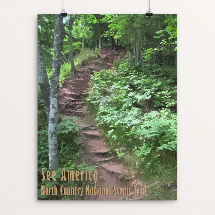 "North Country National Scenic Trail by Katie 12"" by 16"" Print / Unframed Print See America"