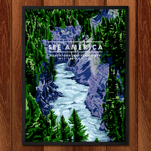 "North Fork Flathead River by Marissa Leitch 12"" by 16"" Print / Framed Print See America"