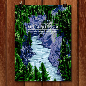 "North Fork Flathead River by Marissa Leitch 12"" by 16"" Print / Unframed Print See America"