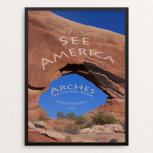 "North Window, Arches National Park by Jane Rohling 12"" by 16"" Print / Framed Print See America"