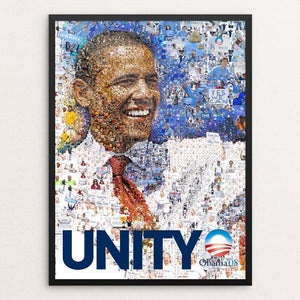 "Obama 2008: UNITY by Charis Tsevis 12"" by 16"" Print / Framed Print Design For Obama"