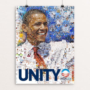 "Obama 2008: UNITY by Charis Tsevis 12"" by 16"" Print / Unframed Print Design For Obama"