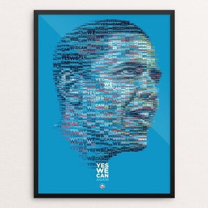 "Obama 2012: Yes We Can. Again by Charis Tsevis 12"" by 16"" Print / Framed Print Design For Obama"