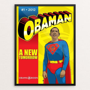 "Obaman by Roberlan Paresqui 12"" by 16"" Print / Framed Print Design For Obama"