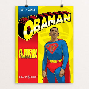 "Obaman by Roberlan Paresqui 12"" by 16"" Print / Unframed Print Design For Obama"