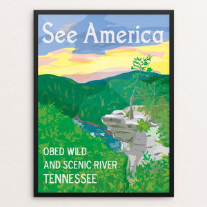 "Obed Wild and Scenic River by Kara Gunter 12"" by 16"" Print / Framed Print See America"