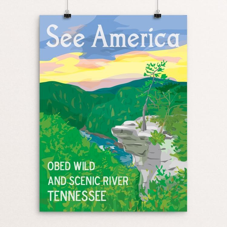 "Obed Wild and Scenic River by Kara Gunter 12"" by 16"" Print / Unframed Print See America"