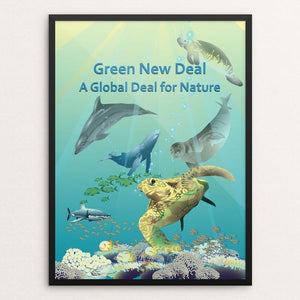 "Ocean Diversity by Lyla Paakkanen 18"" by 24"" Print / Framed Print Green New Deal"