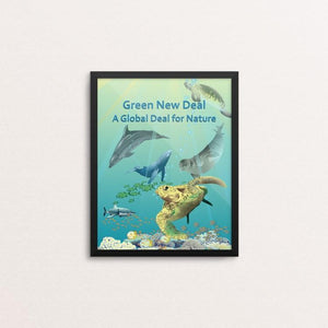 "Ocean Diversity by Lyla Paakkanen 8"" by 10"" Print / Framed Print Green New Deal"
