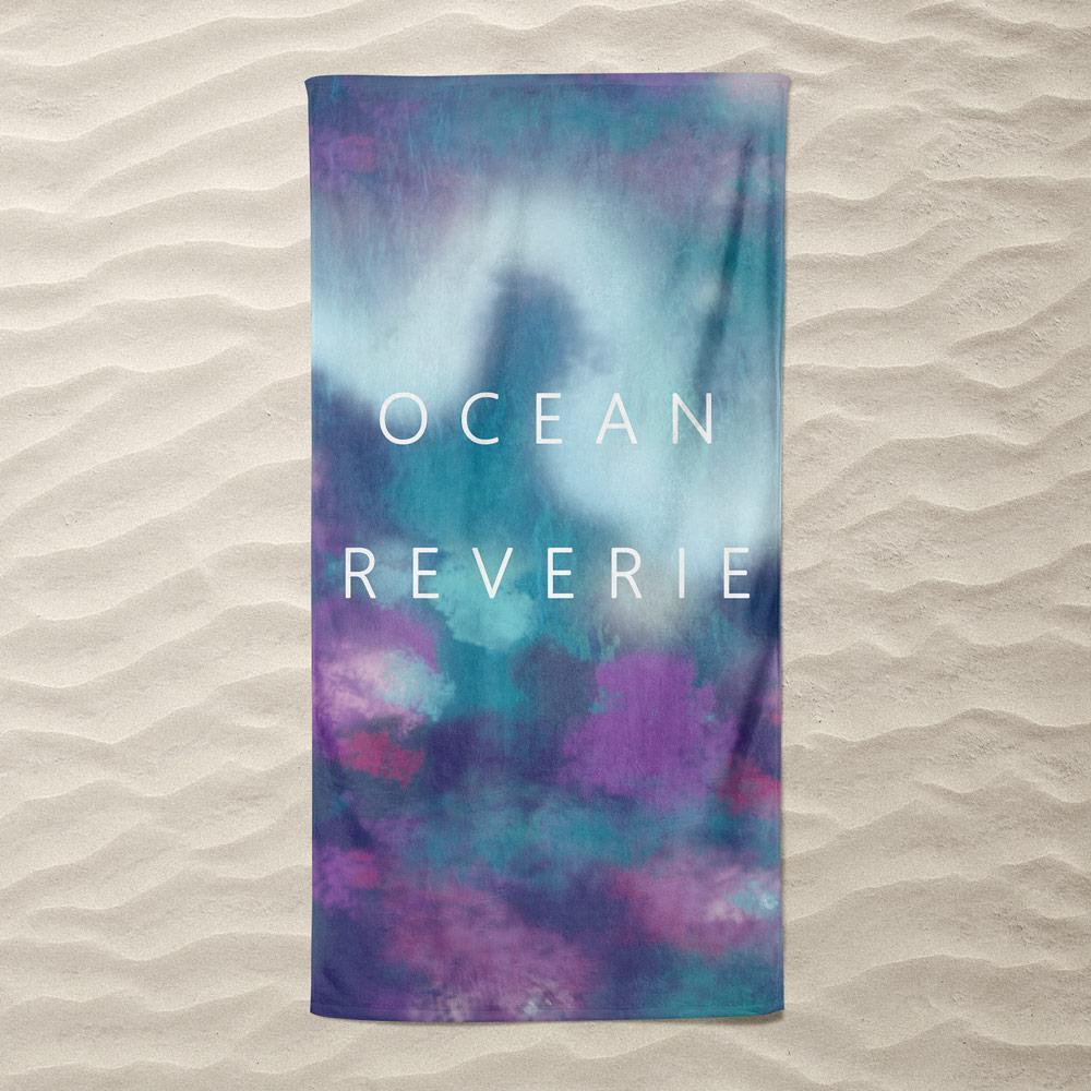 Ocean Reverie Beach Towel by Paula Kong Beach Towel Ocean Love