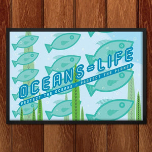"Oceans = Life by Jon Briggs 18"" by 12"" Print / Unframed Print Climate Victory"