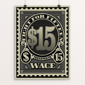 "Official Stamp by Don Henderson 18"" by 24"" Print / Unframed Print Working Families P(ART)Y"