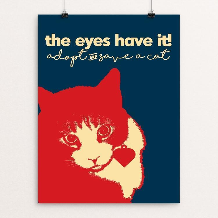 "Oh Those Eyes! by Bob Rubin 12"" by 16"" Print / Unframed Print Creative Action Network"