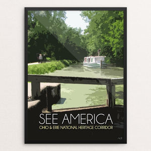 "Ohio and Erie Canal National Heritage Corridor by Jay Wise 12"" by 16"" Print / Framed Print See America"