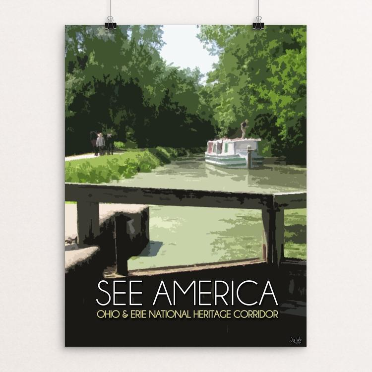 "Ohio and Erie Canal National Heritage Corridor by Jay Wise 12"" by 16"" Print / Unframed Print See America"