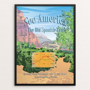 "Old Spanish National Historic Trail by Lyla Paakkanen 12"" by 16"" Print / Framed Print See America"