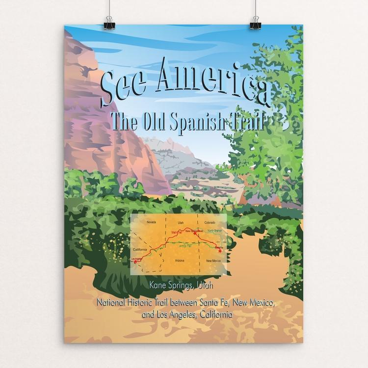 "Old Spanish National Historic Trail by Lyla Paakkanen 12"" by 16"" Print / Unframed Print See America"