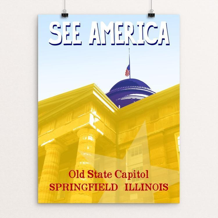 "Old State Capitol, State Historic Site by Robert Mayschak Jr. 12"" by 16"" Print / Unframed Print See America"