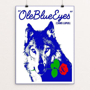 "Ole Blue Eyes by Bob Rubin 18"" by 24"" Print / Unframed Print Join the Pack"