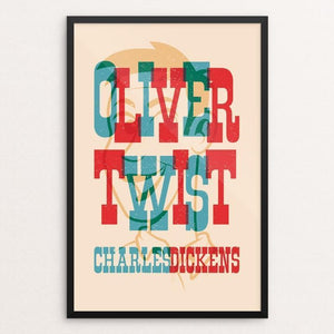"Oliver Twist by Roberlan Borges Paresqui 12"" by 18"" Print / Framed Print Recovering the Classics"