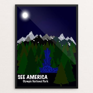 "Olympic National Park by Alondra Garcia 12"" by 16"" Print / Framed Print See America"