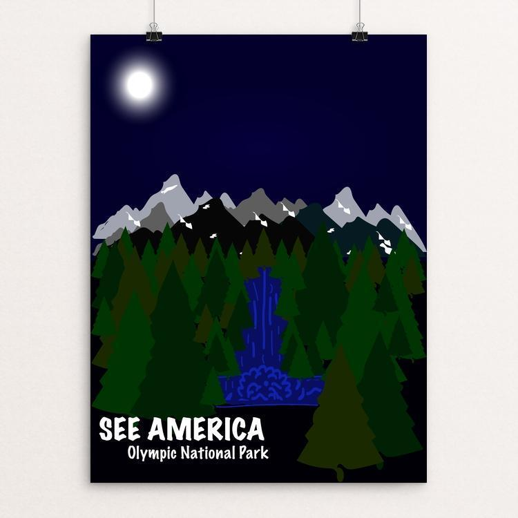 "Olympic National Park by Alondra Garcia 12"" by 16"" Print / Unframed Print See America"