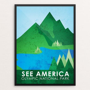 "Olympic National Park by Cody Willems 12"" by 16"" Print / Framed Print See America"