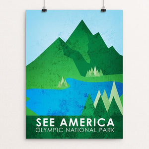 "Olympic National Park by Cody Willems 12"" by 16"" Print / Unframed Print See America"