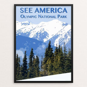 "Olympic National Park by Zack Frank 12"" by 16"" Print / Framed Print See America"