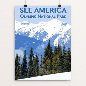 "Olympic National Park by Zack Frank 12"" by 16"" Print / Unframed Print See America"